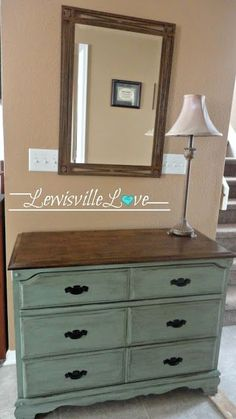 """""""Lewisville Love Blog.""""  I love the idea of refurnishing furniture into new life! This summer I purchased some old dressers to be refinished (still need to finish the handles;) & already know how to refinish but pinning this to remember how to create the distressed look."""