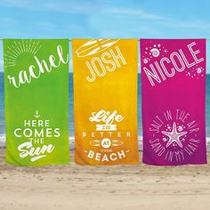 7 best personalized beach towels images on pinterest beach blanket