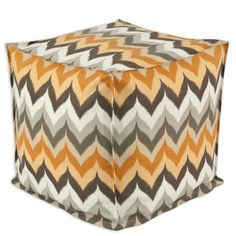 Gant Paramount Copperstone Seamed Beads Hassock Ottoman