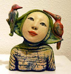Love Struck by Camille VandenBerge - Ceramic, 2009 Pottery Sculpture, Sculpture Clay, Pottery Art, Pottery Clay, Slab Pottery, Ceramic Figures, Clay Figures, Ceramic Art, Ceramic Bowls