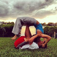 Acro yoga! Healthy relationships