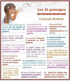 Les 15 principes que tout parent devrait savoir.