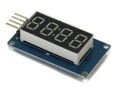 TM1637 4-Digits decimaal led display. Aan te sluiten op slechts 2 poorten. Arduino Modules, Digital Alarm Clock, Display, Design, Floor Space, Billboard
