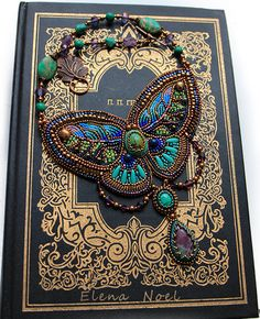 Summer on the wings of a butterfly Embroidered beaded by ElenNoel