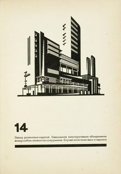 thingsmagazine: The Construction of Architectural and Machine Forms, 1931, Chernikov, from Russian Literature and Works on Paper