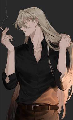 Gin Akai (Detective Conan) ,Boys Love - My Manga Anime Sexy, Hot Anime Boy, Anime Boys, Badass Anime, Anime Sensual, Cute Anime Guys, Dark Anime Guys, Manga Anime, Anime Naruto