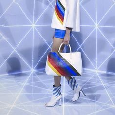 Anya-Hindmarch-Show-Spring-2016 // Prism Colours // rainbow style // fashion forward // runway