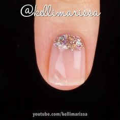 SHORT GLITTERY NUDE NAIL ART Natural short nails look so cute when you put simple colors on them and a little glitter!Natural short nails look so cute when you put simple colors on them and a little glitter! Nude Nails, Pink Nails, Glitter Nails, Pink Nail Art, Cute Nail Art, Short Nail Designs, Nail Art Designs, Gorgeous Nails, Pretty Nails