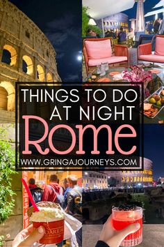 Between visiting the Colosseum or the Vatican, having a fancy dinner, or eating gelato, here are 14 fun options of things to do in Rome at night! Venice Travel, Rome Travel, Europe Destinations, Rome At Night, Night Night, Rome Italy, Verona Italy, Puglia Italy, Venice Italy