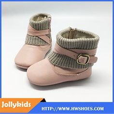 Trendy Design Leather Baby Boots For Toddler Girls