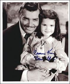 Bonnie Blue Butler with her daddy (Rhett Butler) no other man could match his love of children. Every woman's dream beau