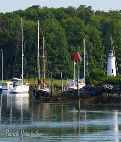 Nonantum Lighthouse & Sailboats, kennebunkport, Maine