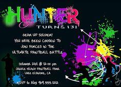 Paintball Party Invitation by swankinvites, via Flickr