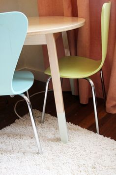 Mix and match colors to make a unique play station.  #playroom #design