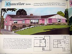 Pink mid-century house - what's not to love?