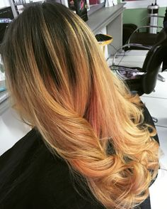 Balayage Peachy Blonde