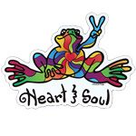 Car Accessories - Peace Frogs Heart and Soul Car Magnet | Positively Peaceful Shirts, Jewelry & Gifts from Peace Frogs