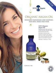 NYR Organics ARGAN OIL produces dramatic results for skin and hair.
