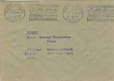 Postscheckamt Stuttgart 07-05-1954 Maschinenstempel 'Jubilaums-Gartenschau Bluhendes Barock 23.4-11.10-1954 in Ludwigsburg'