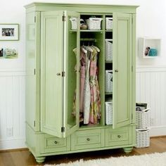 Superb Clothing Armoire In Fun Color