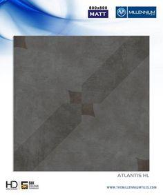 Millennium Tiles, where #designs take shape.  #Atlantis HL - Millennium Tiles 800x800mm (32x32) Vitrified Matt #Porcelain XL #Tiles Series