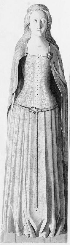 Anne of Bohemia (1394) - notice the border at the cloak