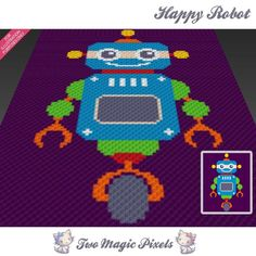 Looking for your next project? You're going to love Happy Robot C2C Crochet…
