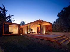 maison en bois extérieur