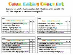 Miss Third Grade: Self Checking and Editing...GREAT writing resources