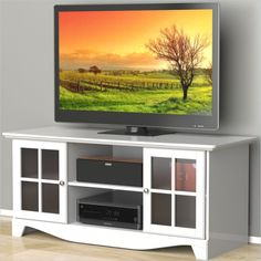 Lowest price online on all Nexera Pinnacle 56'' HEC TV Stand in White - 101203