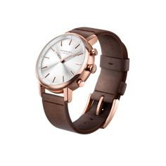 Carat 38 Rose - White, D Brown Leather D Brown, Dark Brown Leather, Smartwatch, Omega, Rose Gold, Watches, Silver, Blue, Accessories