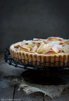 Apple Cinnamon Tart from gotowanieciezy.pl Recipe in English at the bottom. Apple Recipes, Baking Recipes, Sweet Recipes, Cake Recipes, Sweet Pie, Sweet Tarts, English Food, Food Cakes, Yummy Food