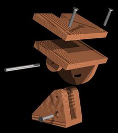 Grinder Stand, Bench Grinder, Woodworking Jig Plans, Woodworking Projects, Tool Stand, Woodturning Tools, Diy Bench, Homemade Tools, Wood Plans
