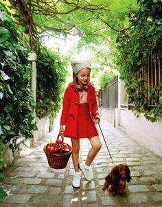 """jackrogersusa: """" Mignonne (cute!). habituallychic: """" Vogue enfants via French"""