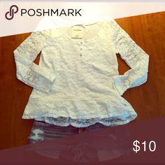 Abercrombie girl outfit size m - 8 Love this lacey white Abercrombie top - great denim bottoms make this a perfect spring/summer outfit - mix and match - note: the denim jean shorts a very itty bitty - they came cut this short, we did not alter them abercrombie kids Matching Sets