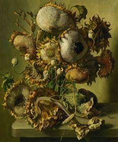 Sunflower Seeds by Gerald A. Cooper (British, 1899-1975)