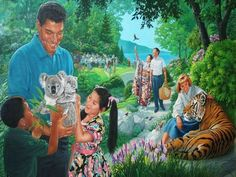 God's purpose for man and the earth is wonderful. What will life be like in God's new world? Life In Paradise, Paradise On Earth, Jehovah Paradise, Isaiah 65, Revelation 21 4, Paradise Pictures, Arte Judaica, Jw Humor, Earth Photos