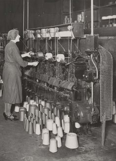 Woman at work on a power cable stranding machine, 1942. IET Archives NAEST 211/02/10/08 C.9134