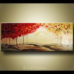 Large Original Abstract Landscape painting by KAG by kagstudios, $349.00