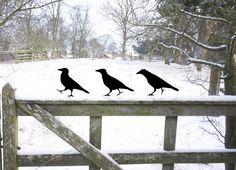 3 x Le Corbeau Oiseau, de Métal Noir de ODE Faite à la Main par Jolyon Yates sur DaWanda.com