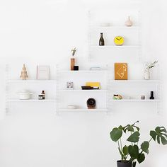 Weekly sales of unseen design and decoration brands at exclusive discounts. Interior Styling, Interior Decorating, Interior Design, Diy Wohnmöbel, Decorative Metal Screen, String Regal, Scandinavian Home Interiors, String Shelf, Diy Home Furniture