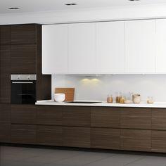 """Képtalálat a következőre: """"ikea voxtorp"""" Ikea Kitchen Design, Kitchen Island Decor, Contemporary Kitchen Design, Home Decor Kitchen, Rustic Kitchen, Interior Design Kitchen, Unfinished Kitchen Cabinets, Modern Kitchen Cabinets, Kitchen Flooring"""
