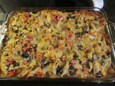 Healthy Enchilada Casserole... this was delicious but put me into an all-afternoon coma.