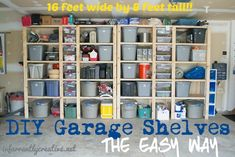 DIY Home Ideas | Storage and Organization | Tired of tripping on things in your garage? Get it organized with these easy-to-build garage shelves!
