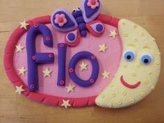 Jumping clay name plaque