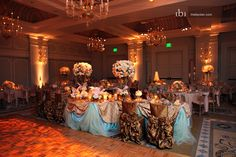 Masquerade ball themed reception. Beautiful!!!