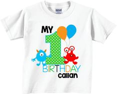 1st Birthday Shirts with Cute Monsters or for Any Age Birthday Tees on Etsy, $12.95