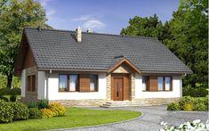#projekt #dom #jednorodzinny #parterowy #nowoczesna #elewacja #czteropokojowy #tani Style At Home, Home Photo, Traditional House, Home Fashion, Tiny House, Gazebo, House Plans, Sweet Home, Cottage