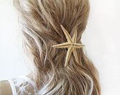 Starfish Hair Accessories,  Starfish Pins, Wedding Accessories, Mermaid Hair Accessories, Beach Hair Accessories, Natural