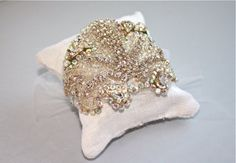 Crystal and Tulle Spiderweb Bridal Cuff  Clear by DolorisPetunia